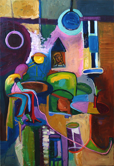 Expressionistic Painting - Connected by Kari Sagal Allgire