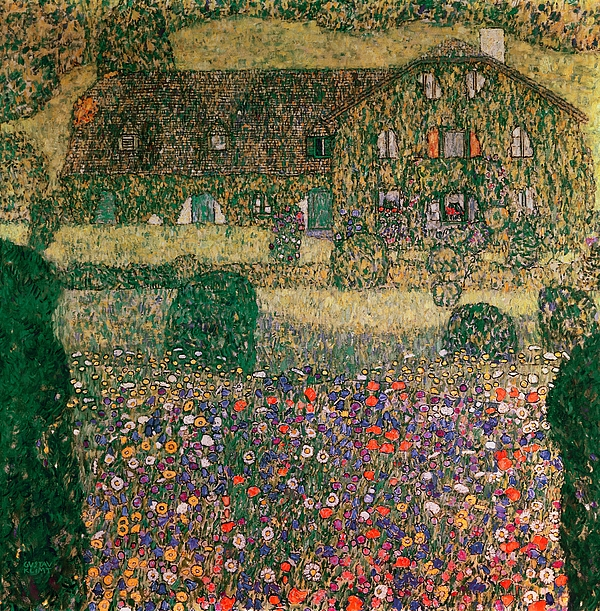 Country Painting - Country House By The Attersee by Gustav Klimt