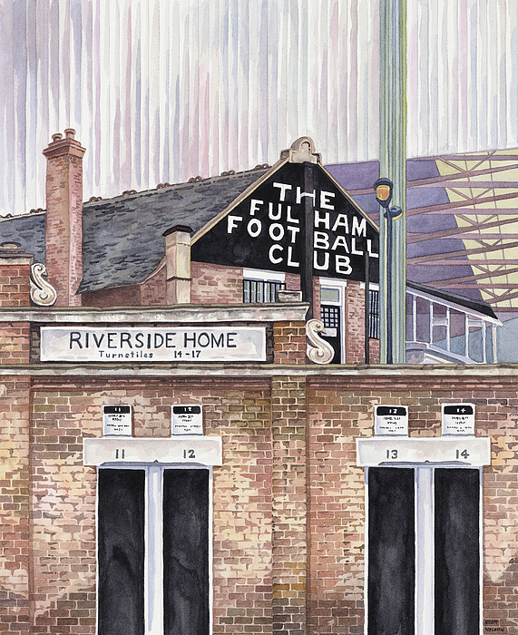 Craven Cottage Painting
