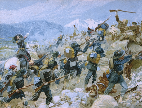 Crimean War And The Battle Of Chernaya Painting