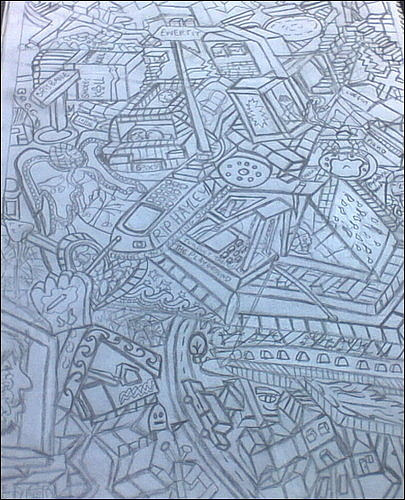 Cubism Artwork Drawing