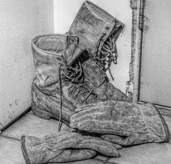 Boots Photograph - Dads Boots by Randy Steele