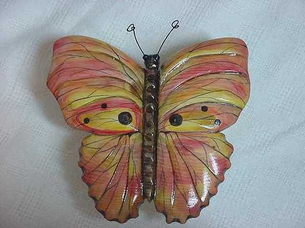 Wooden Butterfly Created Without Patterns Painting - Dainty Pinks-sold by Lisa Ruggiero