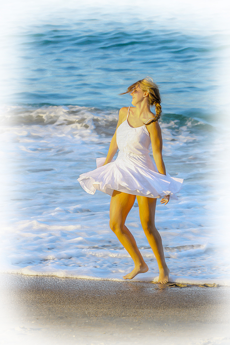Fun In The Sun Digital Art - Dancing With The Waves by Randy Steele