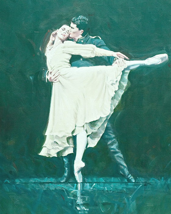 Dance Painting - Darcey Bussell Farewell Winter Dreams by Charles Willmott