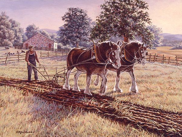 Horses Painting - Days Of Gold by Richard De Wolfe