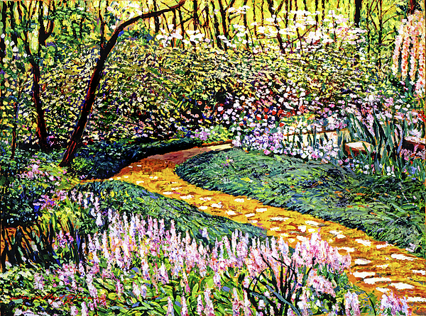 Gardens Painting - Deep Forest Garden by David Lloyd Glover