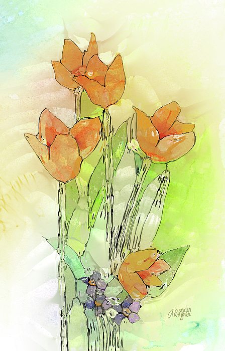 Digital Tulips Digital Art