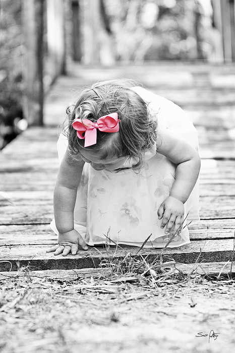 Child Photograph - Discovery by Scott Pellegrin
