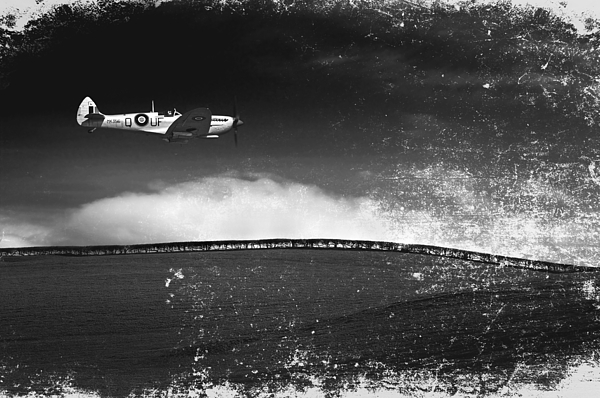 Distressed Spitfire Photograph