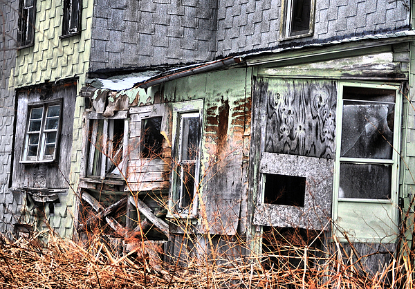 Abandoned Photograph - Double Xs by Emily Stauring