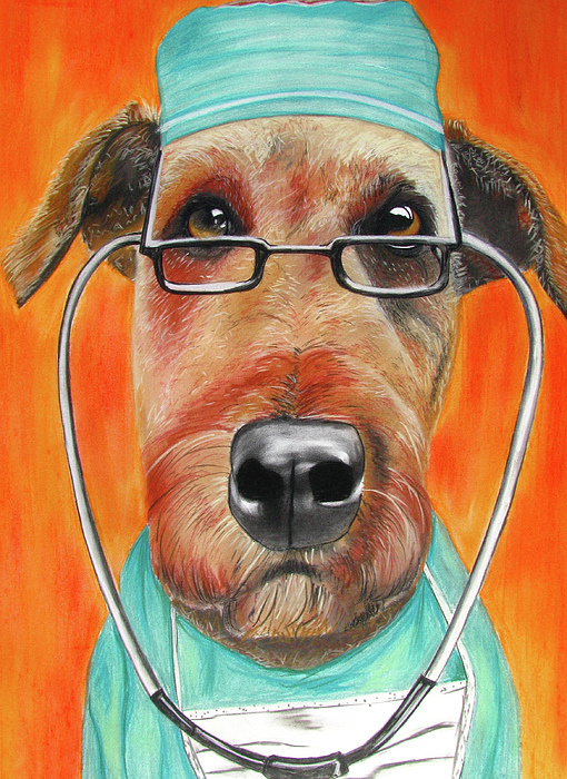 Michelle Hayden-marsan Painting Painting - Dr. Dog by Michelle Hayden-Marsan