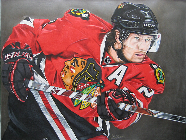 Hockey Drawing - Duncan Keith by Brian Schuster