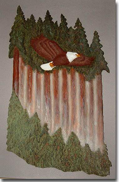 Eagle Relief - Eagles Glide by Clifton Sears