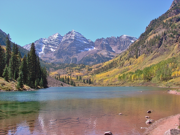 Rocky Mountains Photograph - Early Autumn At The Bells by Margaret Bobb