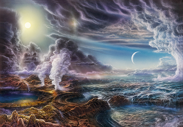 Natural History Painting - Early Earth by Don Dixon