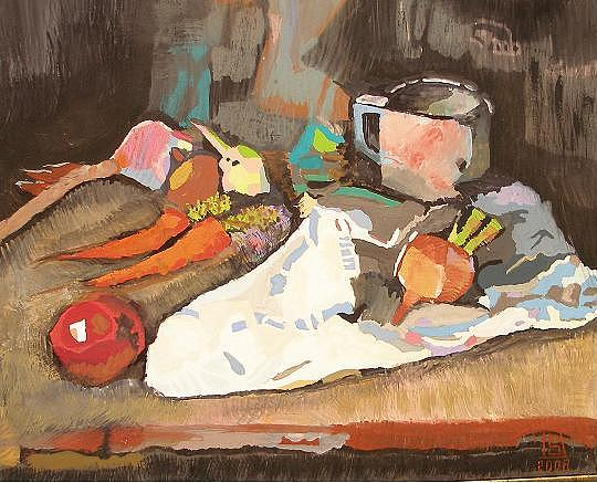 Carrots Painting - Eat Your Vegies by David Siffert