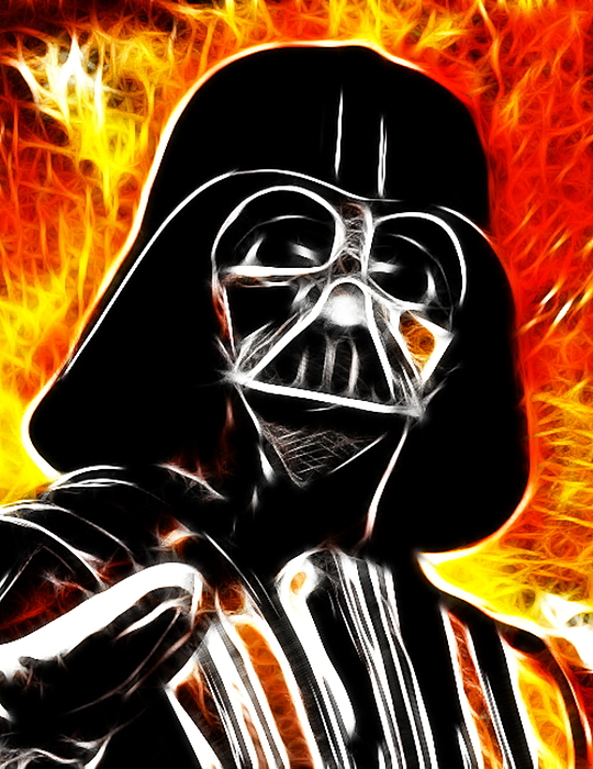Electric Darth Vader Painting