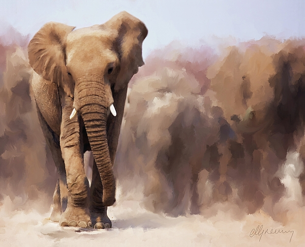Elephant Painting - Elephant Painting by Michael Greenaway