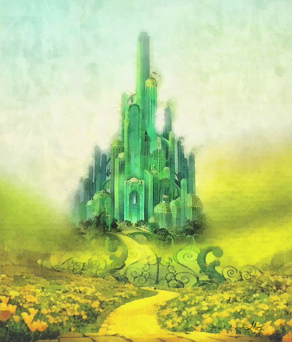Emerald City Painting - Emerald City by Mo T