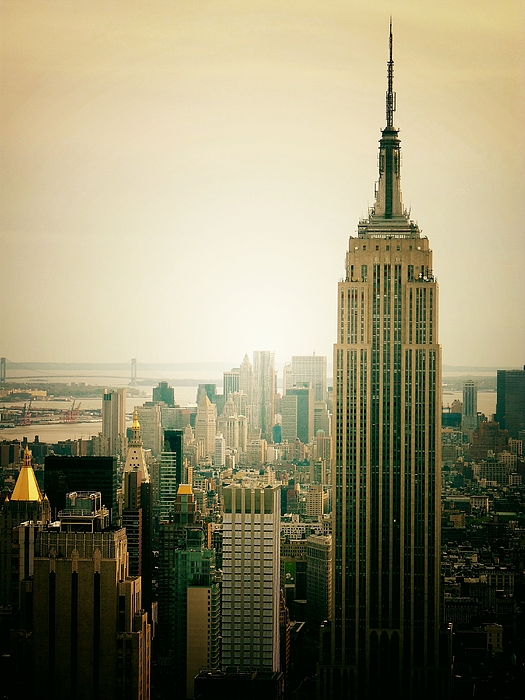New York City Photograph - Empire State Building New York Cityscape by Vivienne Gucwa