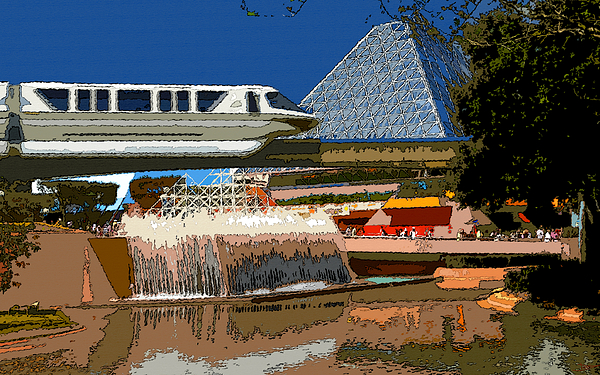 Art Painting - Epcot Scenic by David Lee Thompson