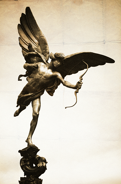 Eros Statue Photograph - Eros Statue by Neil Overy