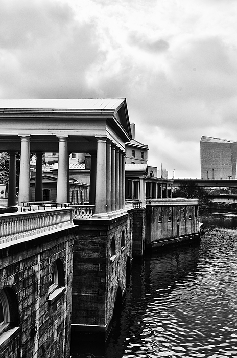 Philadelphia Photograph - Fairmount Water Works In Black And White by Bill Cannon