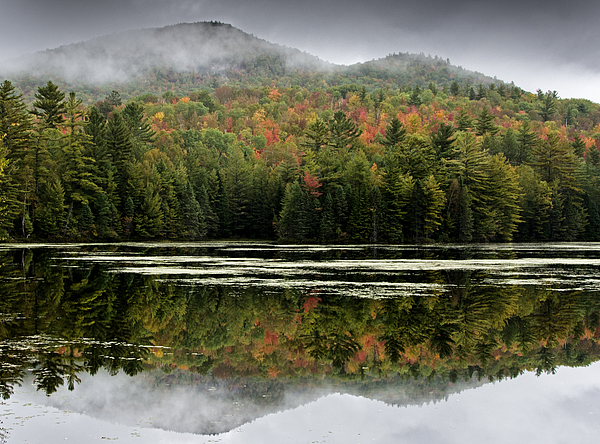 Fall Photograph - Fall Reflections In The Adirondack Mountains by Brendan Reals