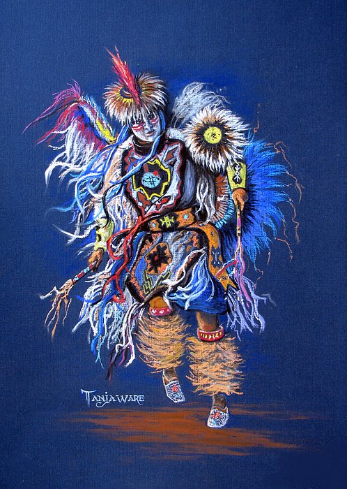 Native American Pastel - Fancy Dancer II by Tanja Ware