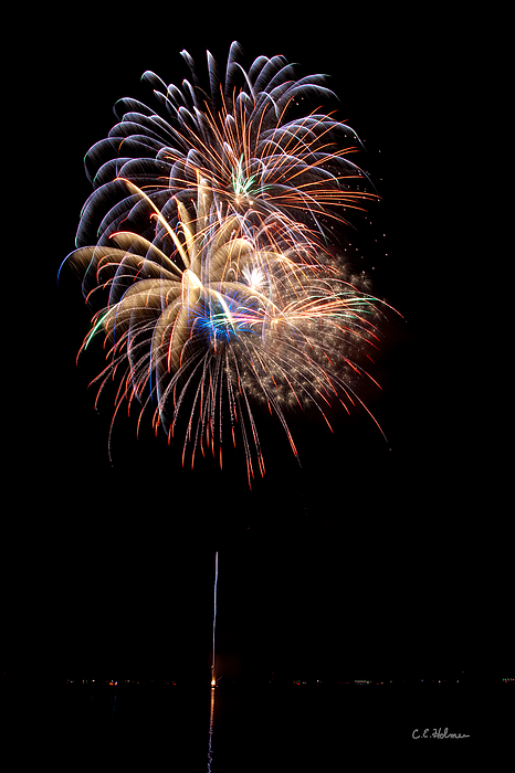 Fireworks Photograph - Fireworks IIi by Christopher Holmes