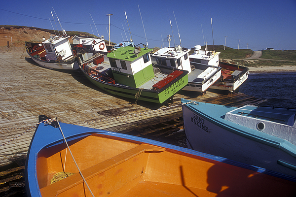 Fishing Boats - Magdalen Islands Photograph