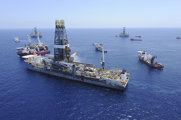 Drillship Photograph - Flaring Operations Conducted by Stocktrek Images