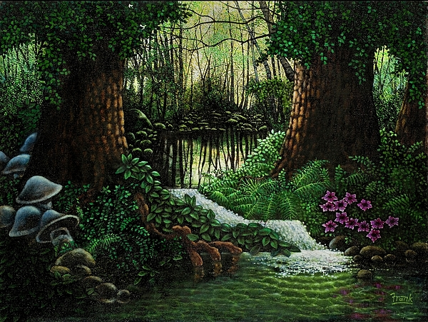 Forest  Painting - Forest Brook by Michael Frank