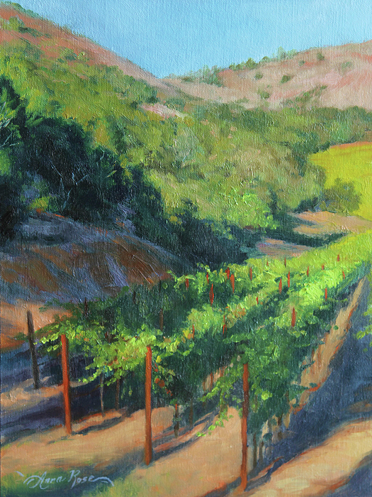 Four Rows Napa Valley Painting