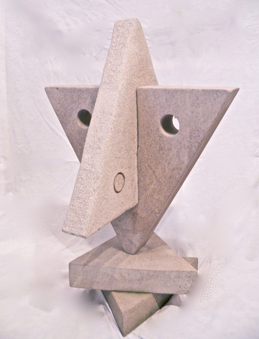 Fourth Sculpture - Fourth Chakra Anahata Heart Right View by Frank Pasquill