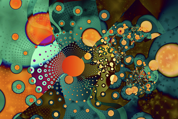 Abstract Digital Art - Fragmentation by Frederic Durville
