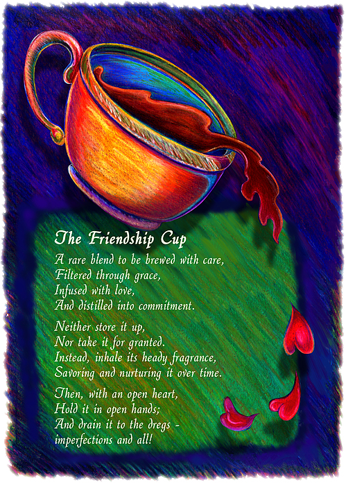 Coffee Drawing - Friendship Cup by Anne Nye
