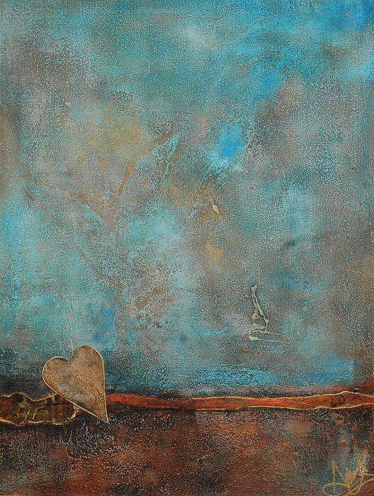 Friendship In Blue Abstract Painting