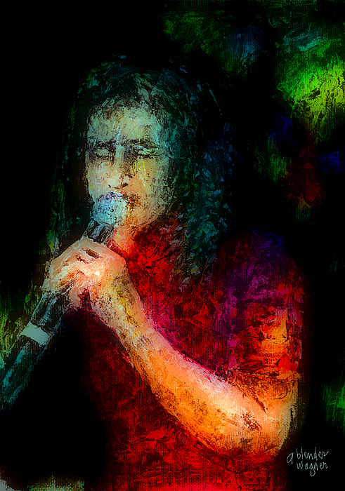 Singer Painting - Frontman by Arline Wagner
