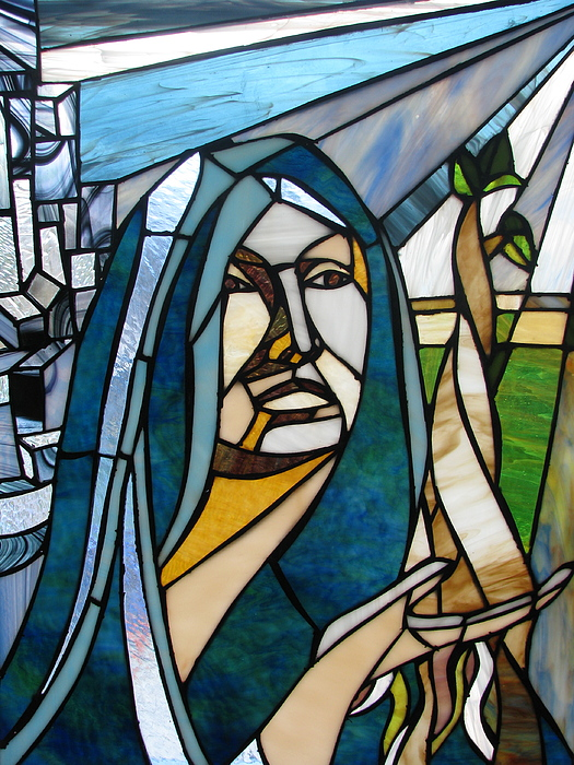 Stain Glass Glass Art - Future Mary by Alicia  LaRue