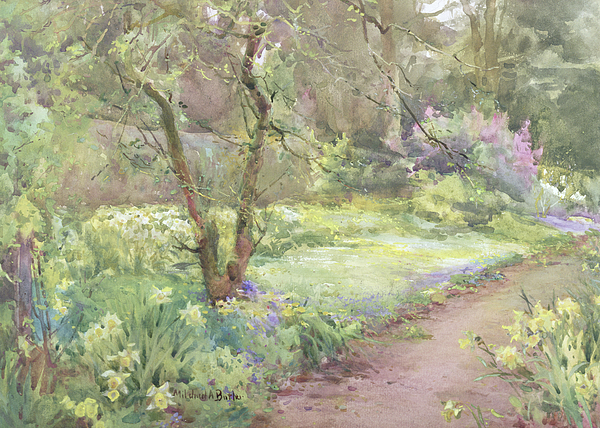Flower Painting - Garden Path by Mildred Anne Butler