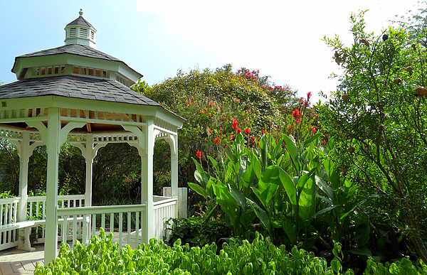 Gazebo Photograph - Gazebo Flower Garden by Sheri McLeroy
