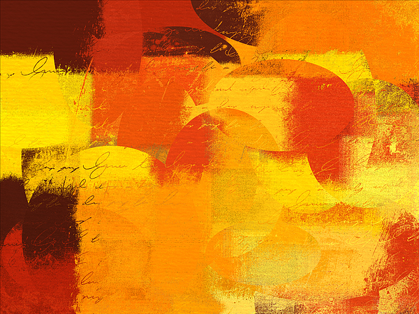 Orange Digital Art - Geomix 05 - 01at01 by Variance Collections