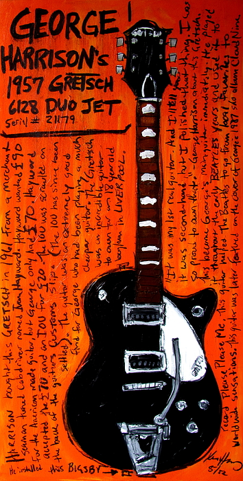 George Harrisons Gretsch Painting