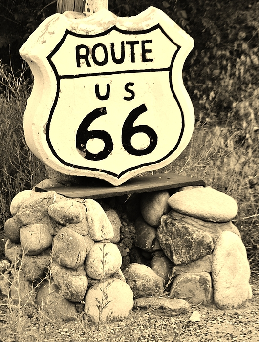 Route 66 Photograph - Gettin Your Kicks by William Wyckoff