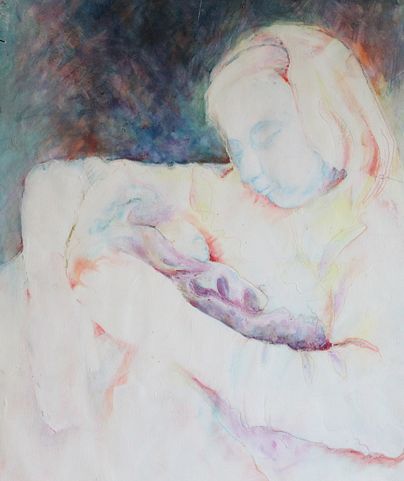 Abstract Painting - Ghost Mother by Catherine Foster