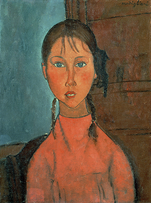 Girl With Pigtails Painting