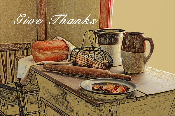 Thanksgiving Photograph - Give Thanks by Michael Peychich