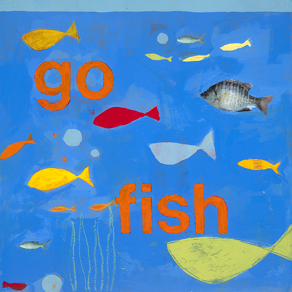 Fish Painting Painting - Go Fish by Laurie Breen